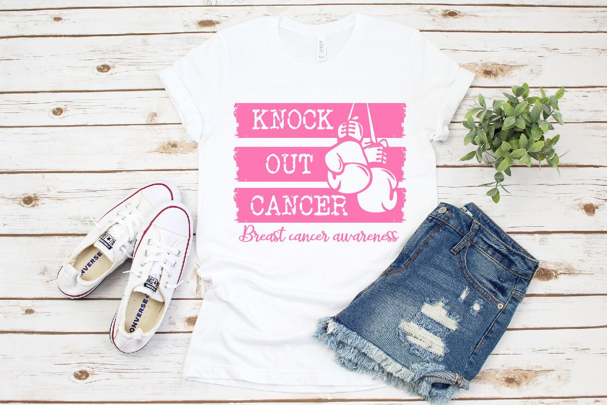 Knock out Breast Cancer Breast Cancer Awareness SVG,Cancer example image 1