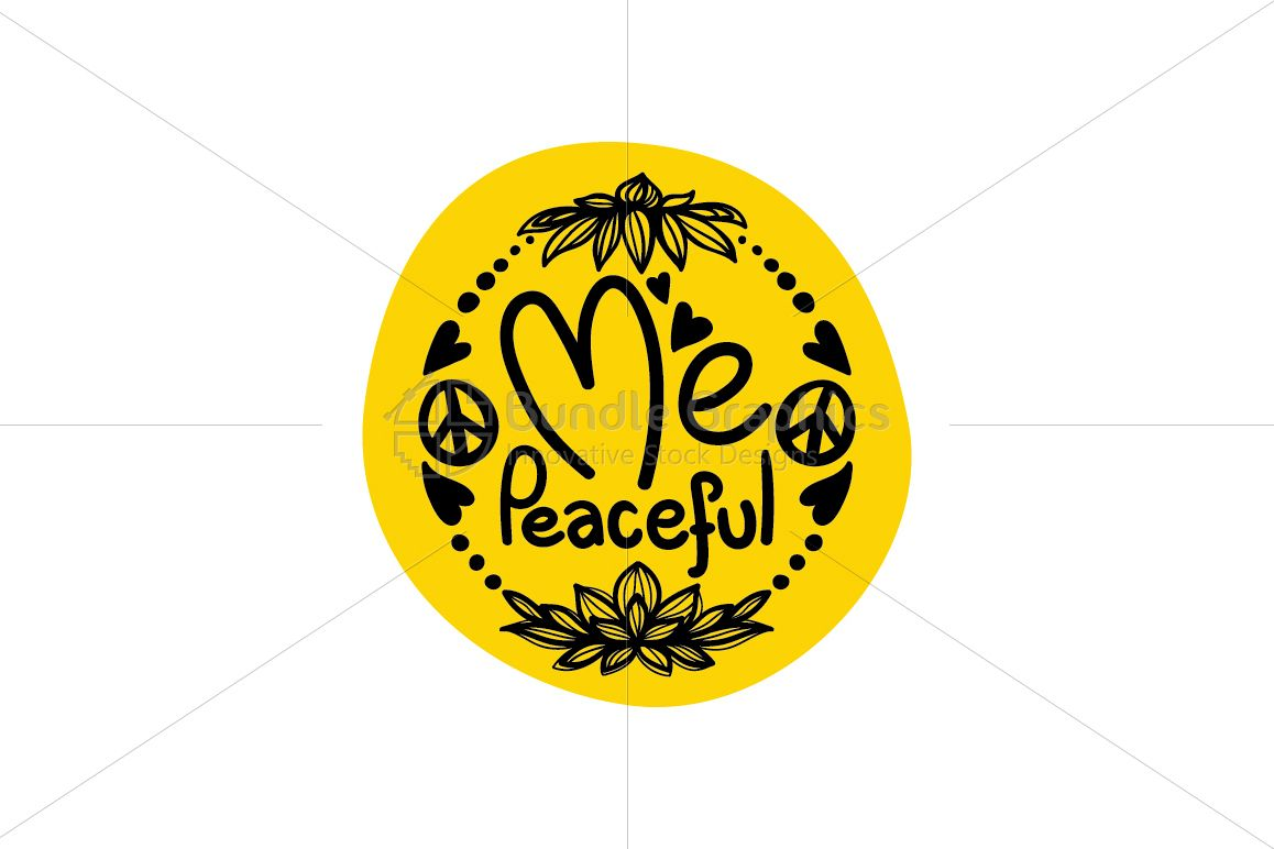 Me Peaceful - Freehand Calligraphic & Illustrative design example image 1