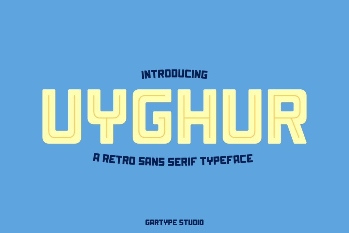 Uyghur - Retro Font example image 1