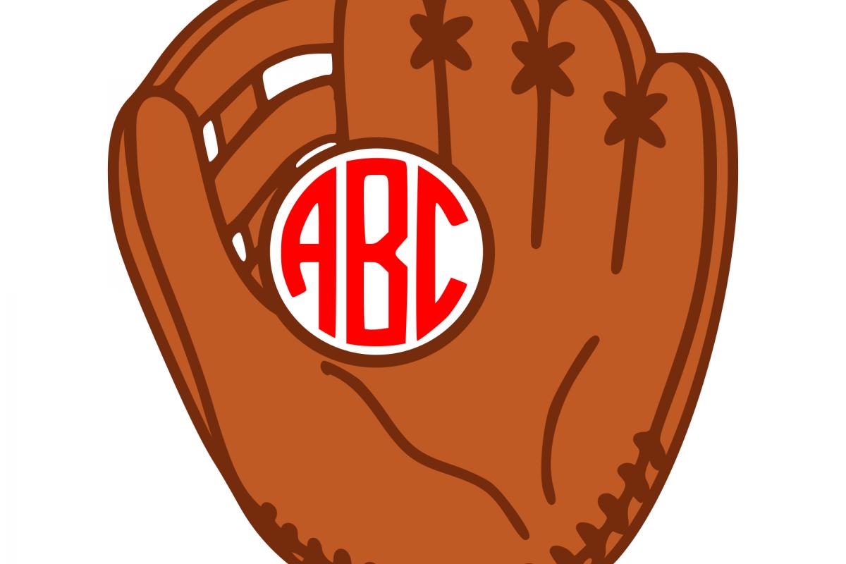 Baseball glove svg example image 1