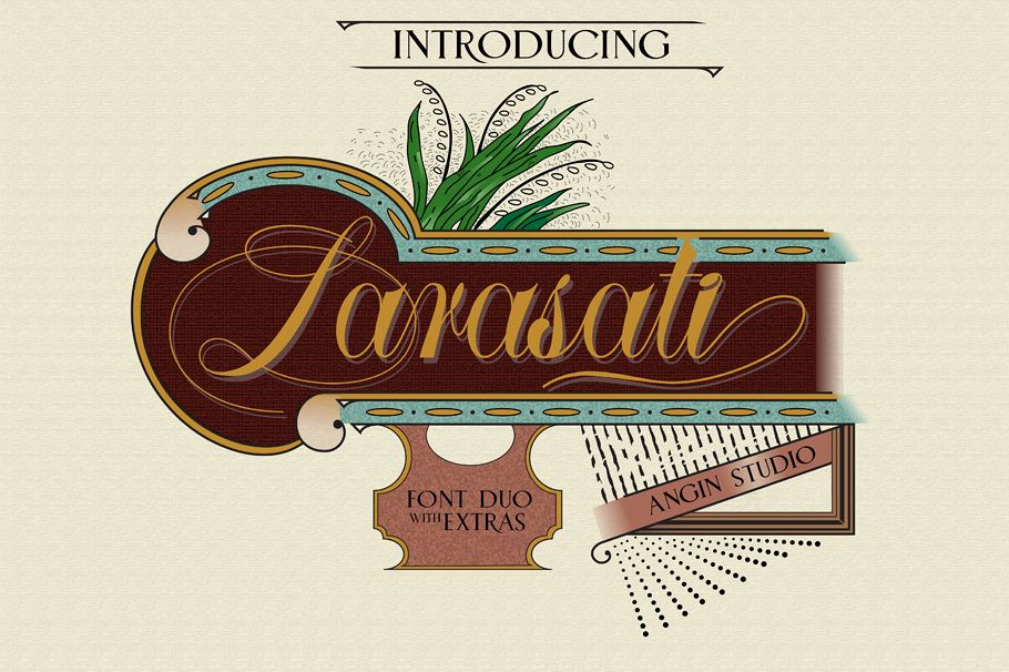 Larasati font duo with extras example image 1