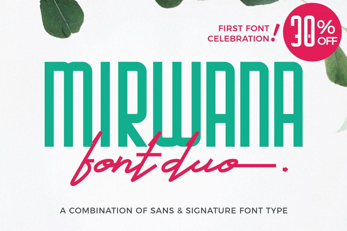 Mirwana Font Duo example image 1