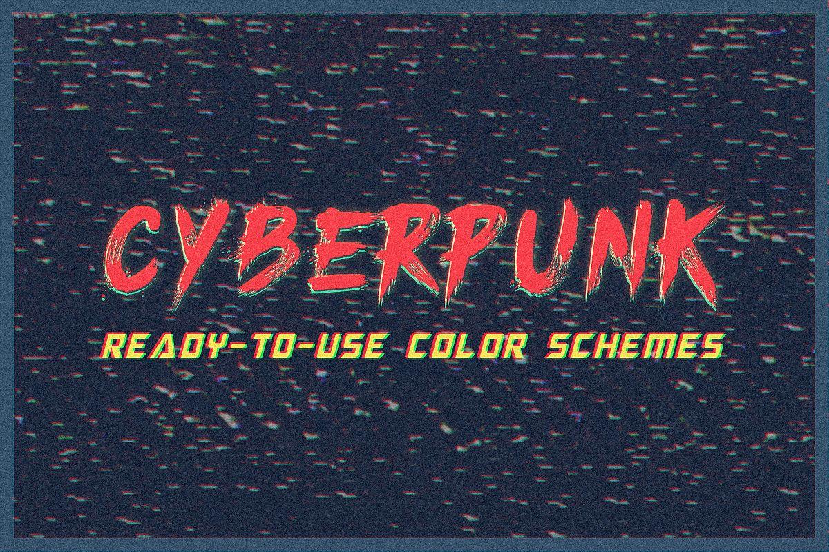 Cyberpunk - Adobe Photoshop Swatches example image 1