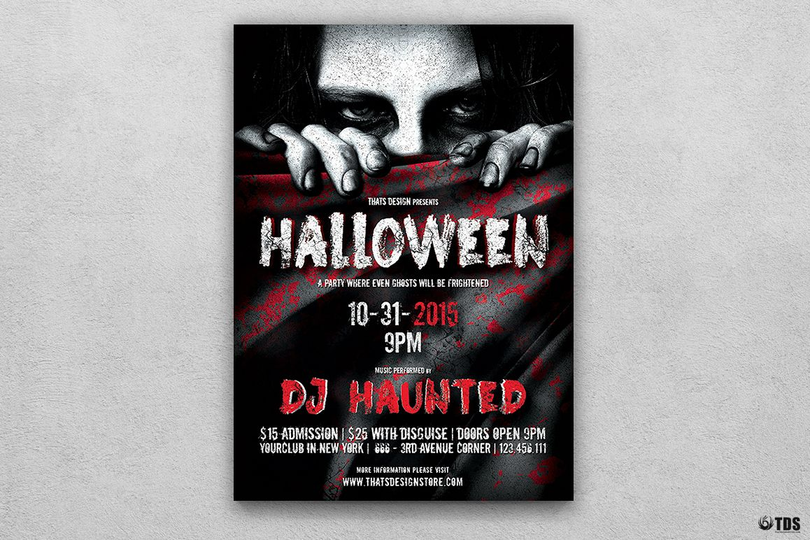 Halloween Flyer Template V5 example image 1