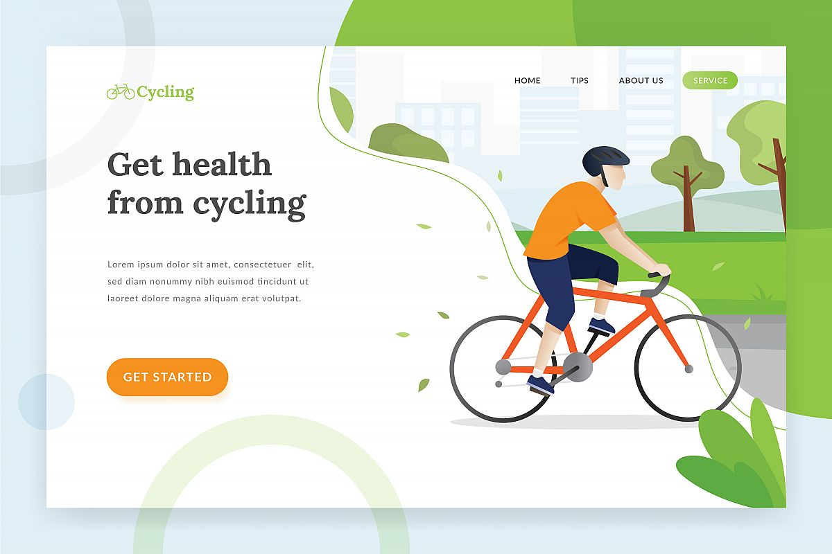 Cycling landing page example image 1