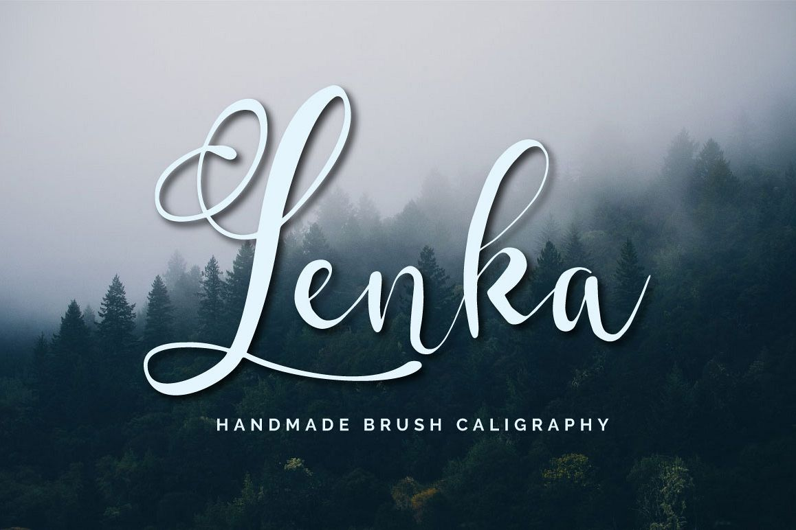 Lenka Brush Caligraphy example image 1