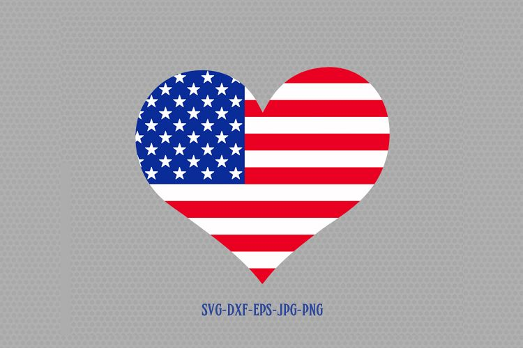 7d9a1493020 Viewing Product. Usa flag heart shape svg ...