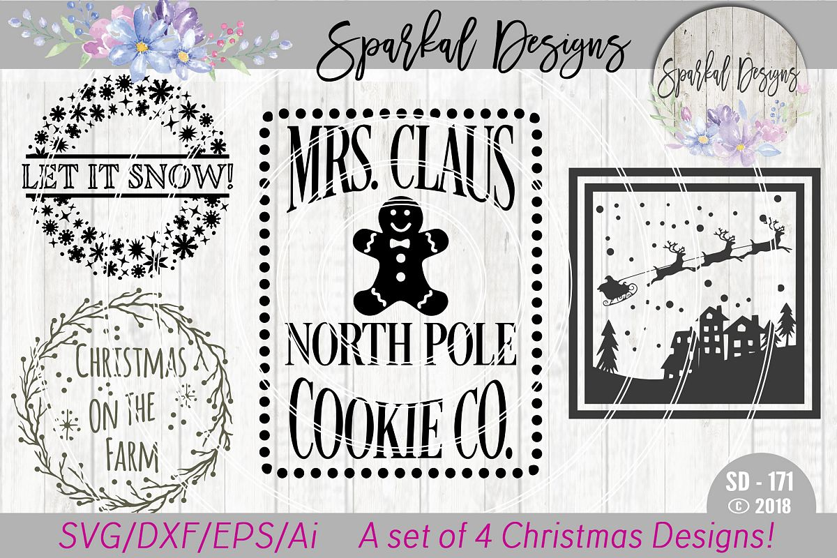 Christmas BUNDLE - A Set of 4 Christma | Design Bundles