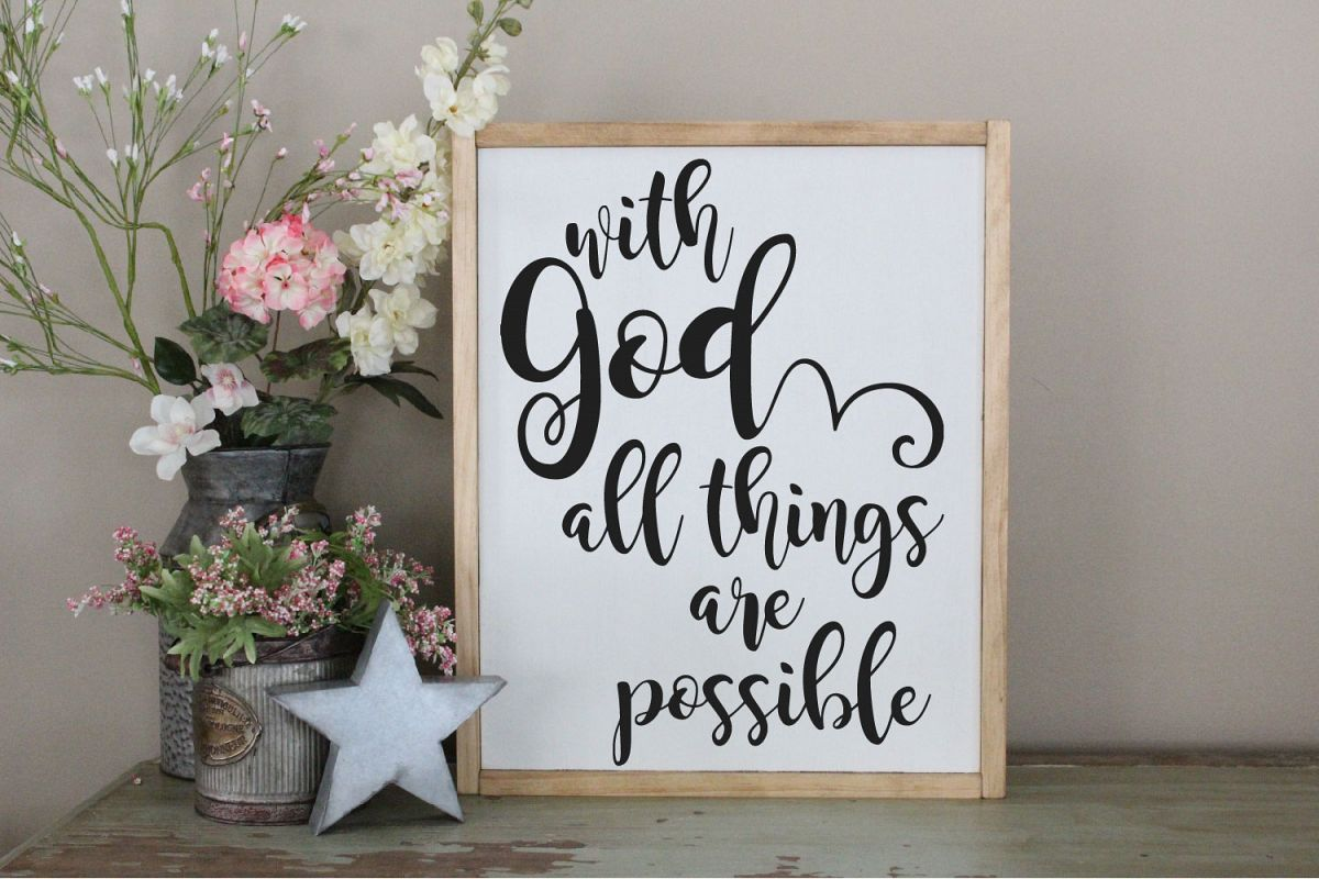 With God All Things Are Possible SVG, Faith In God SVG example image 1