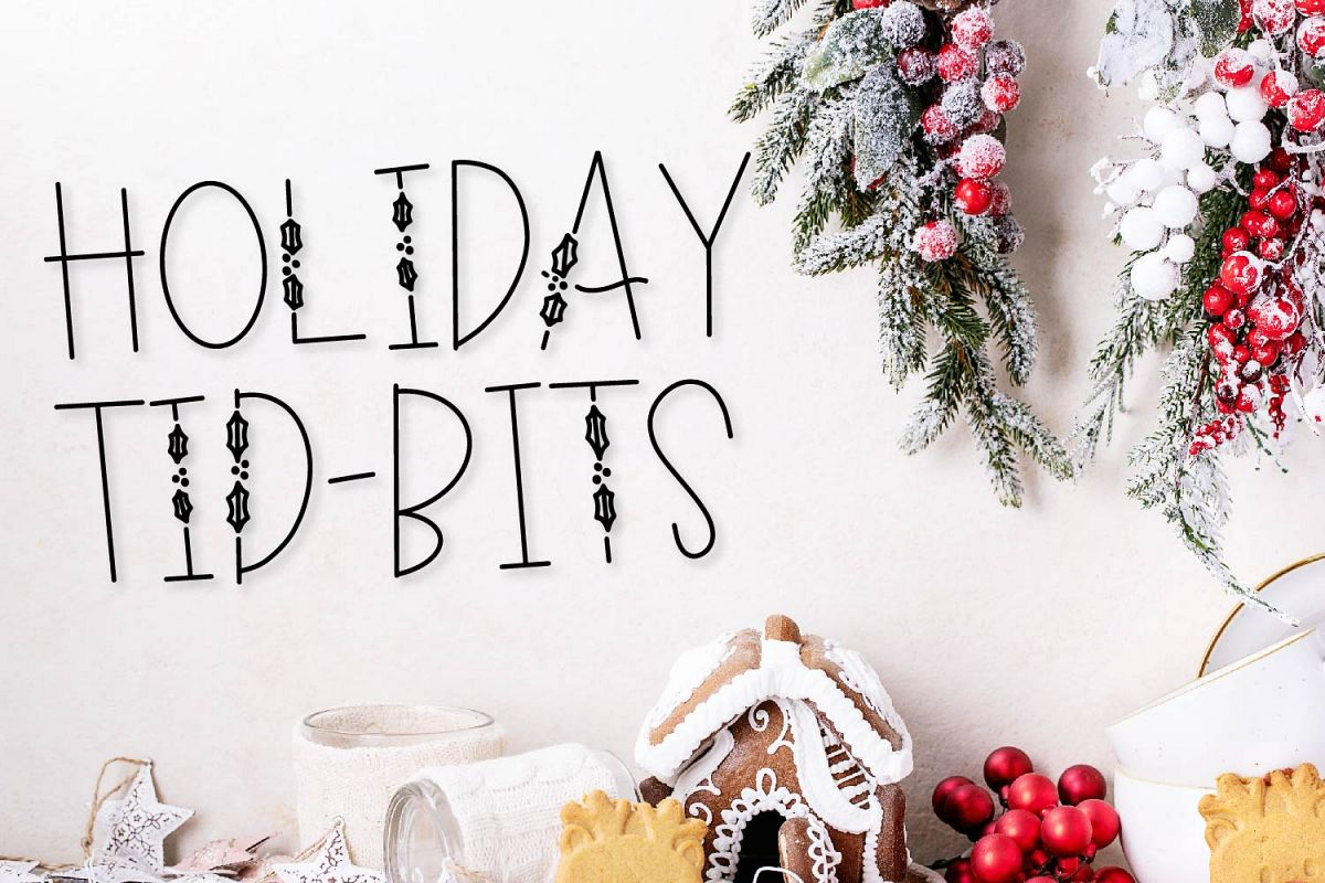 Holiday Tid-Bits - A Christmas Font with Berry Accents! example image 1