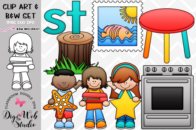 Clip Art / Illustrations - S Blends - st Phonics example image 1