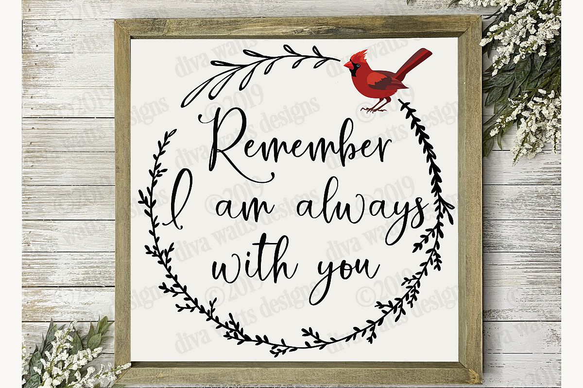 Remember I am Always With You Red Cardinal Cutting File example image 1