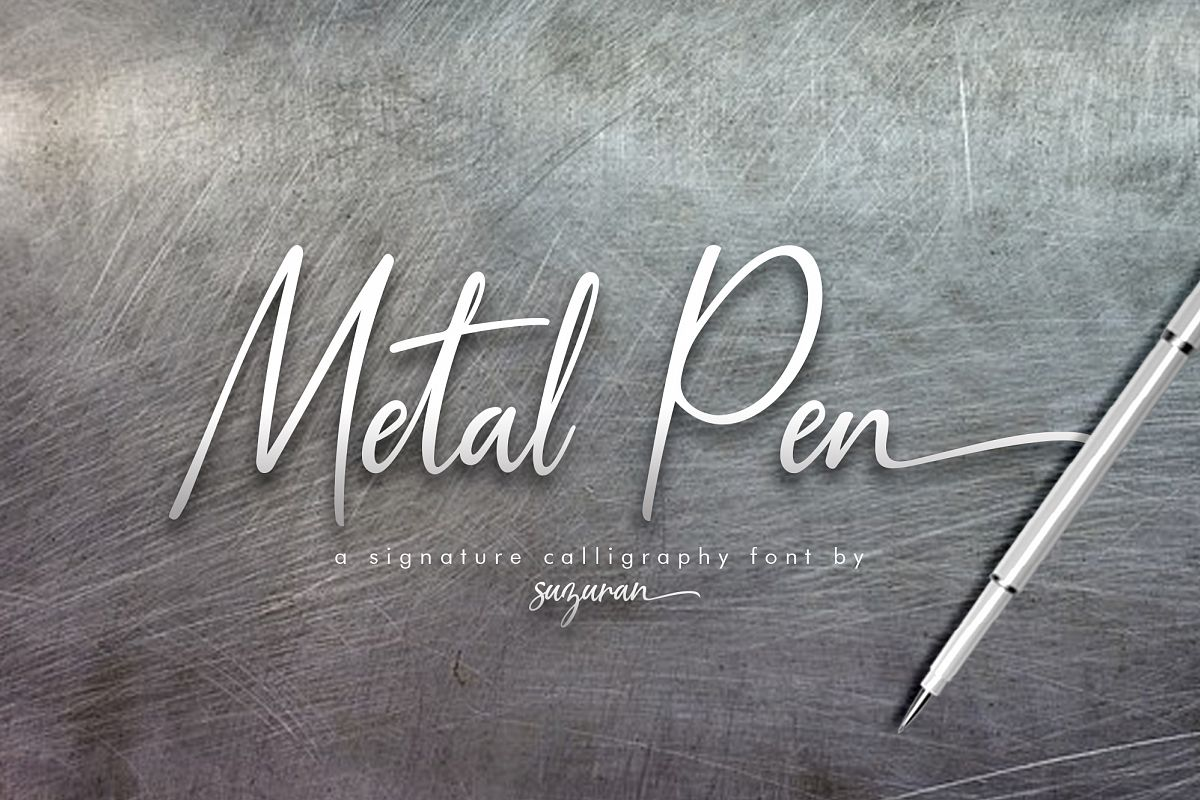 Metal Pen Script 3 Fonts example image 1