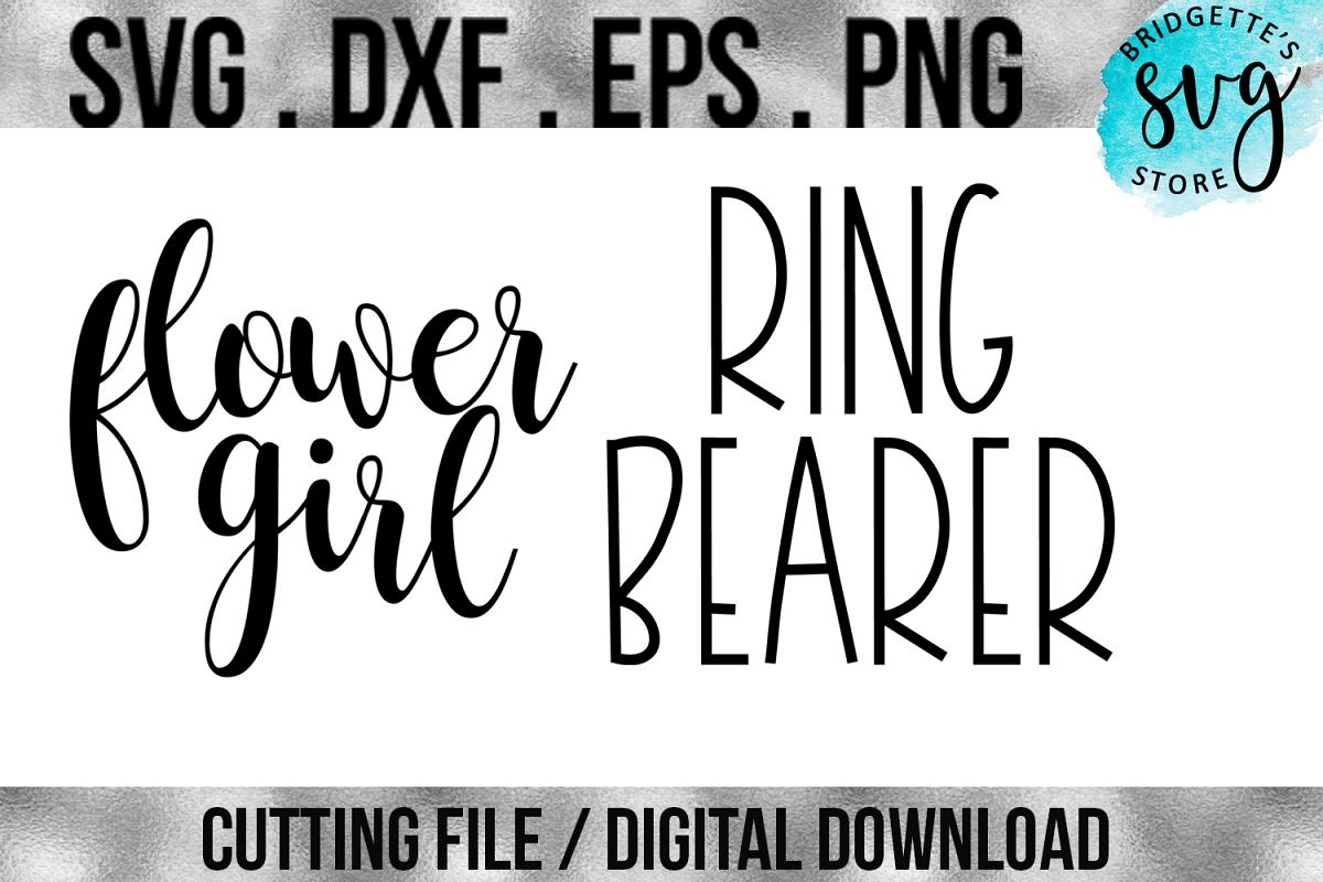 Flower Girl and Ring Bearer SVG, DXF, EPS, PNG Cutting File example image 1