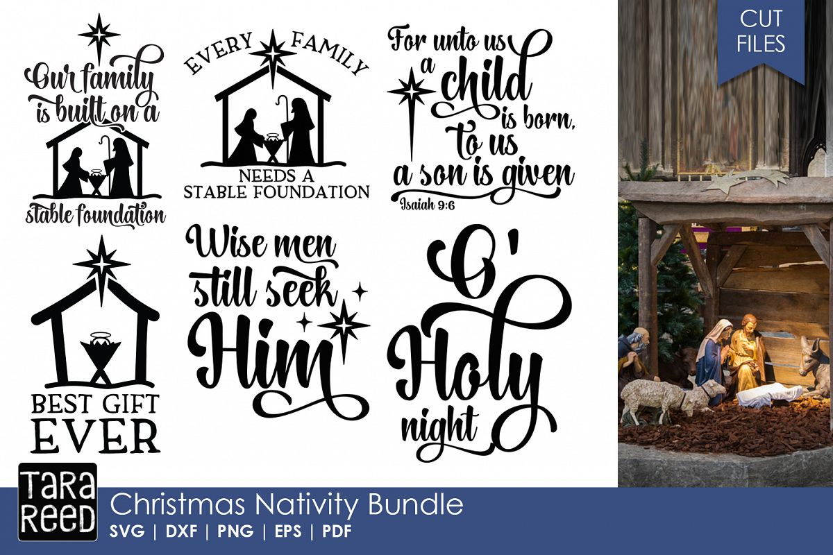 Christmas Nativity - Christmas SVG files for Crafters example image 1