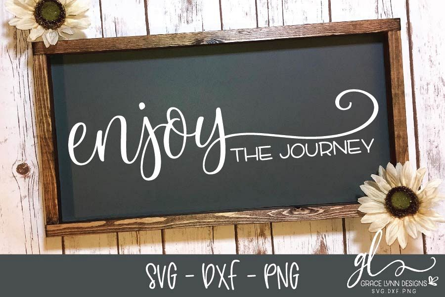 Enjoy The Journey - SVG Cut File - SVG, DXF & PNG example image 1