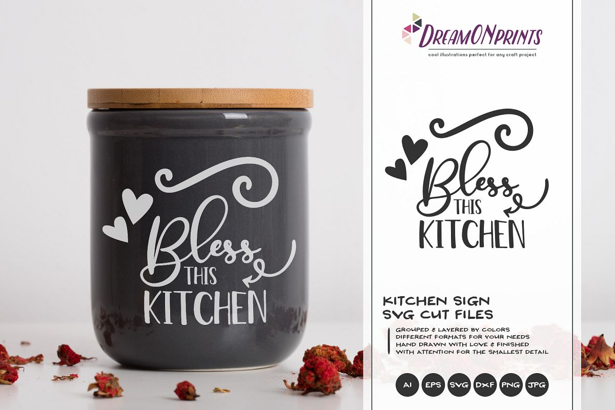 Bless this Kitchen SVG | Kitchen SVG Sign Making example image 1