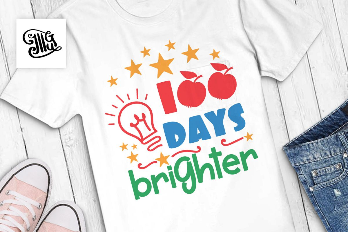 100 days brighter svg example image 1