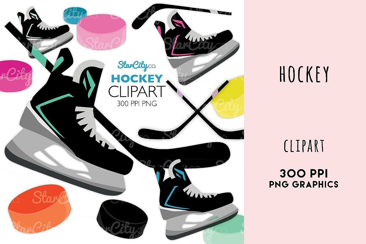 Hockey Clipart Graphics for commercial use example image 1