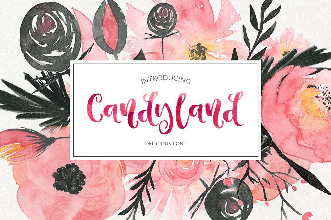Candyland - delicious font example image 1