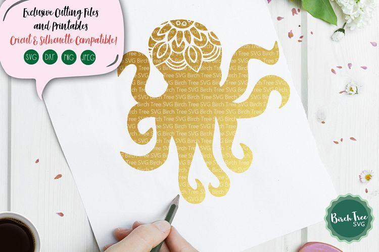 Octopus Mandala SVG Cut File, Octopus SVG, Octopus Cut File example image 1