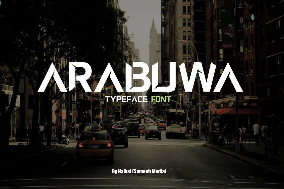 Arabuwa Typeface Font example image 1