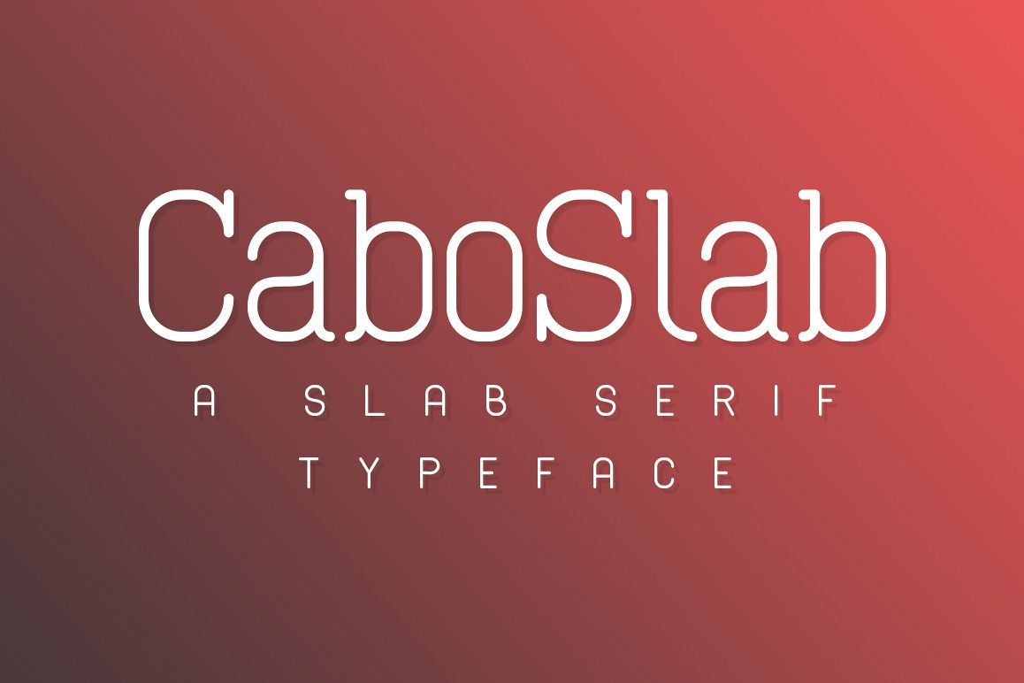 Cabo Slab Font Family example image 1