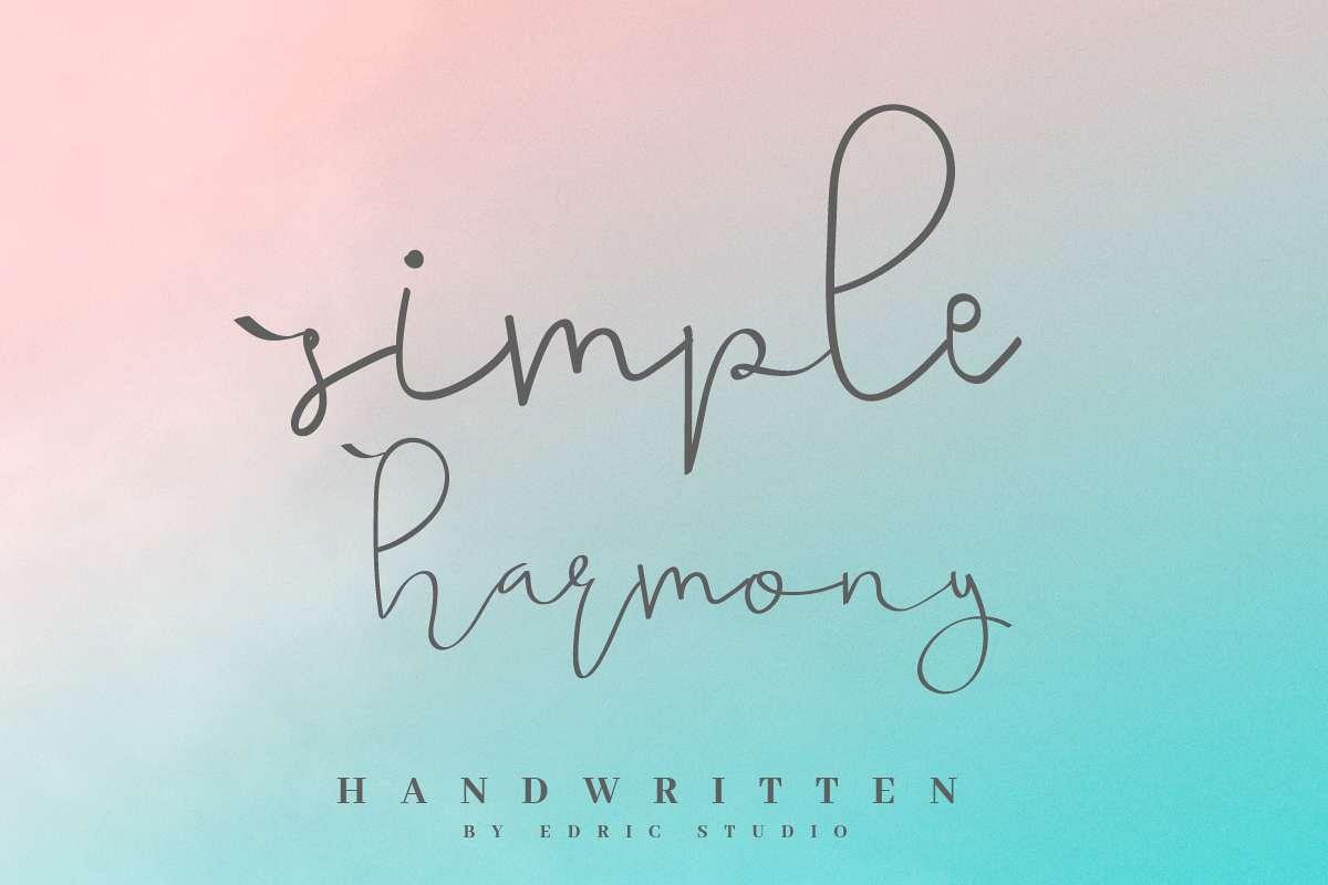 simple harmony example image 1