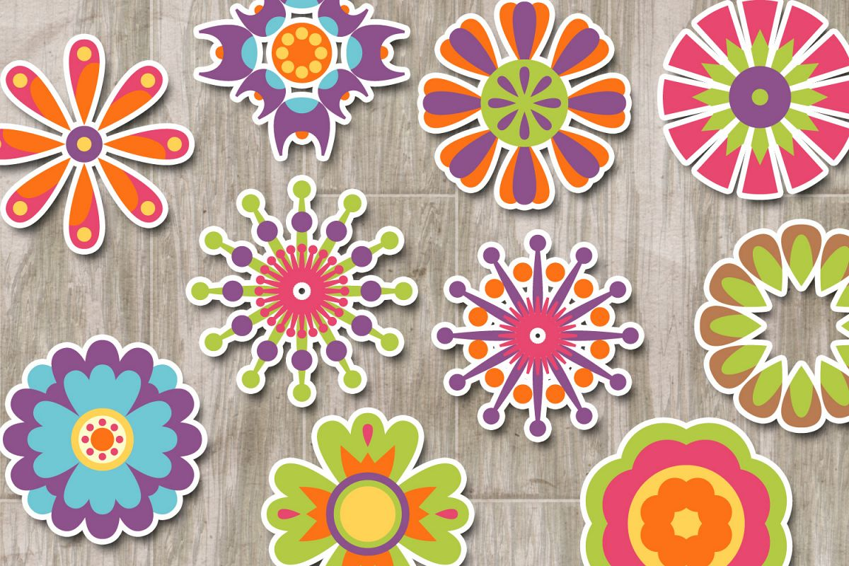 Spring Flowers Decorative Designs And Illustrations