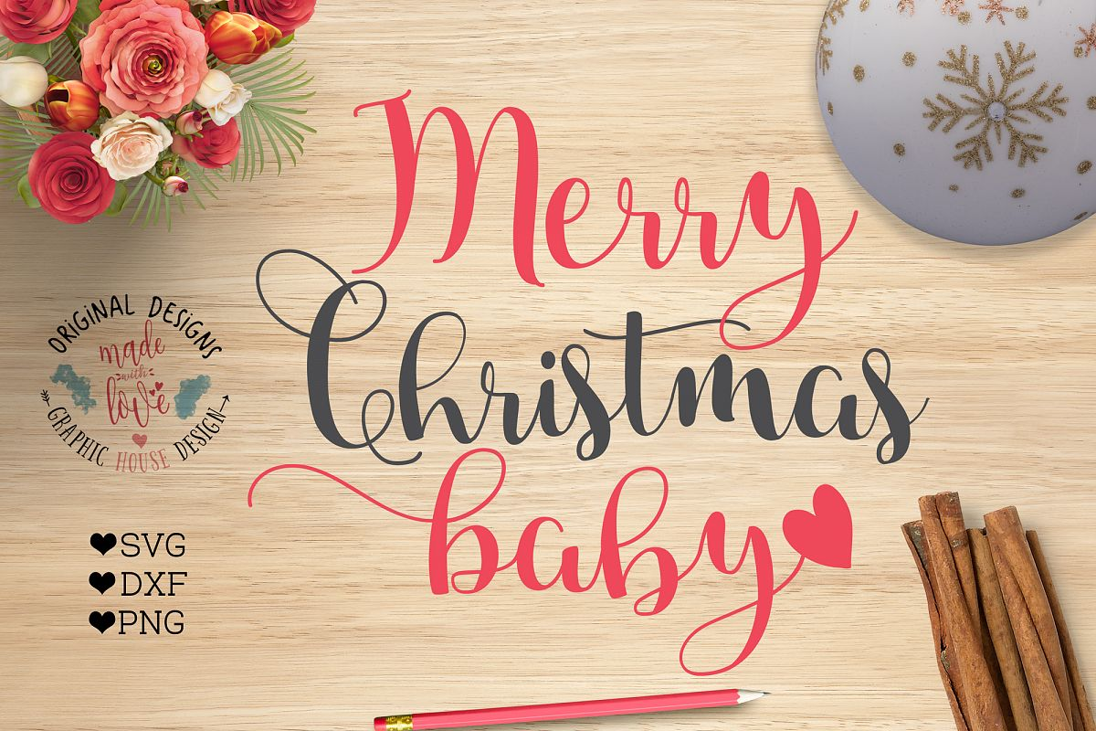 merry christmas baby cut files svg dxf png example image 1 - Merry Christmas Baby