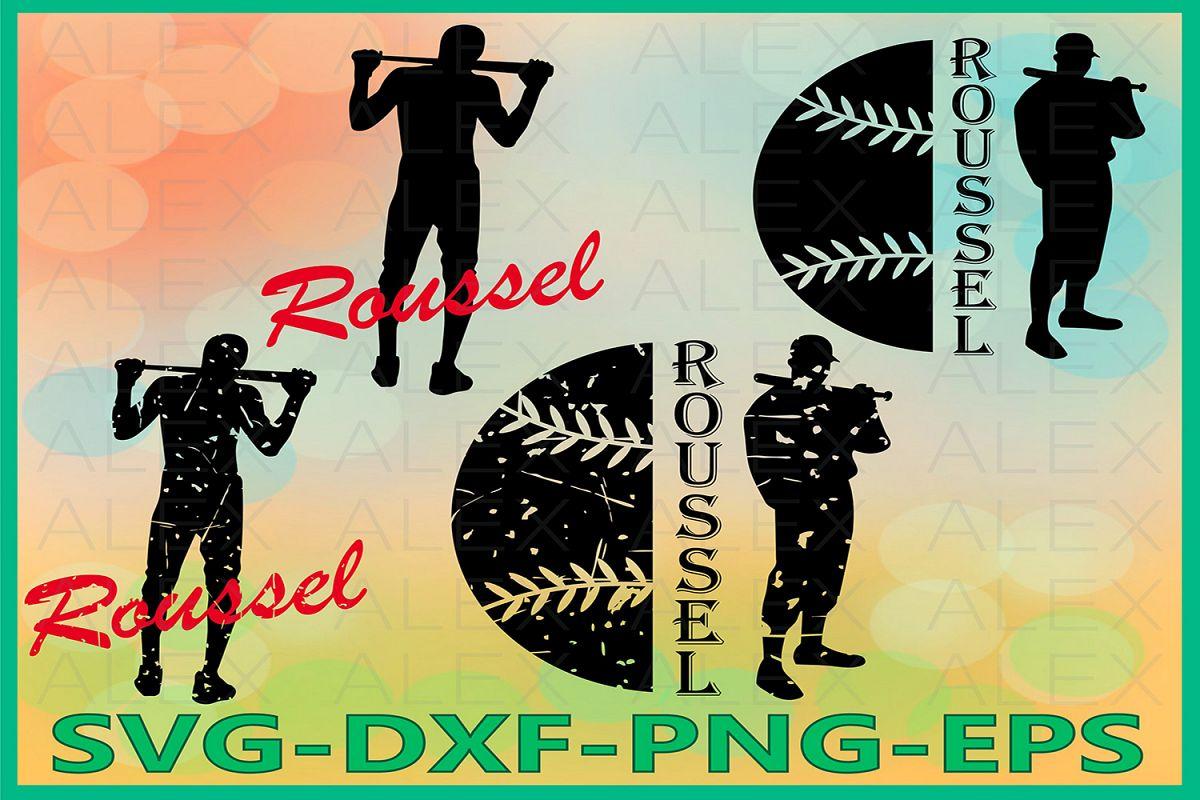 Distressed Baseball Svg Files, Baseball SVG, Print Files example image 1