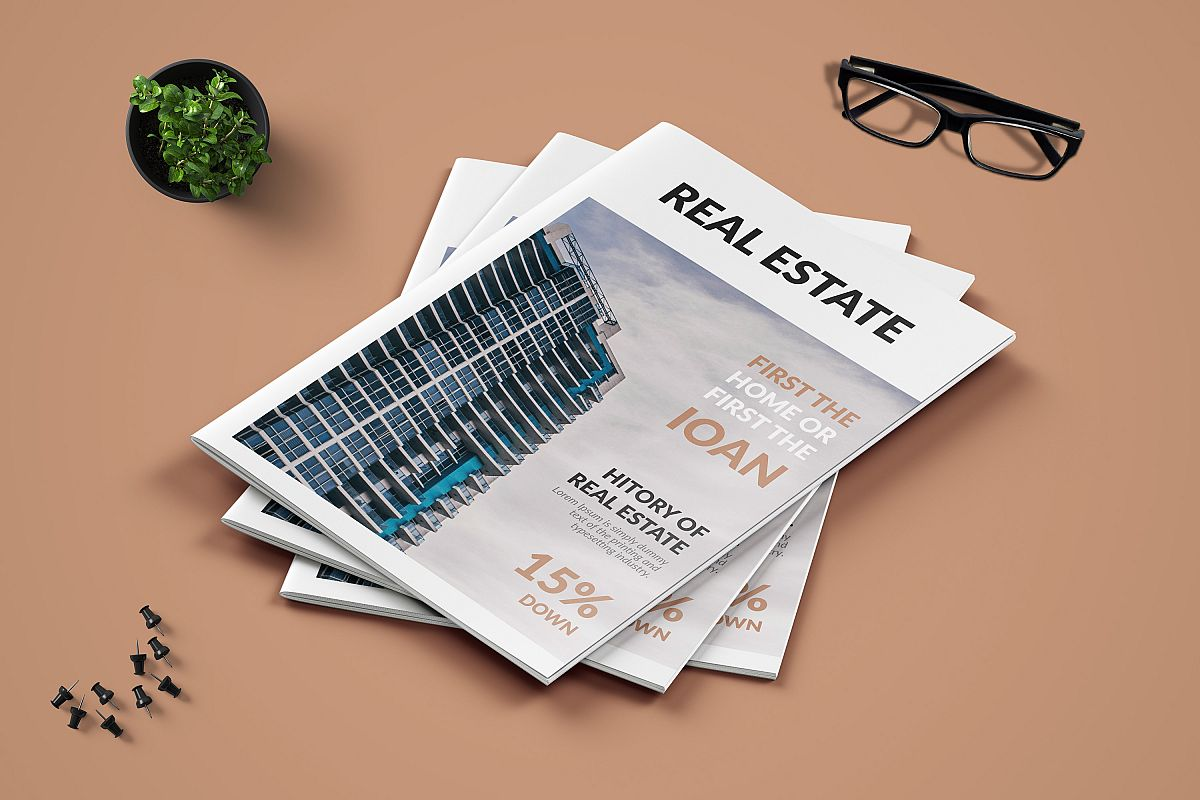 Real Estate Minimal Magazine Template example image 1