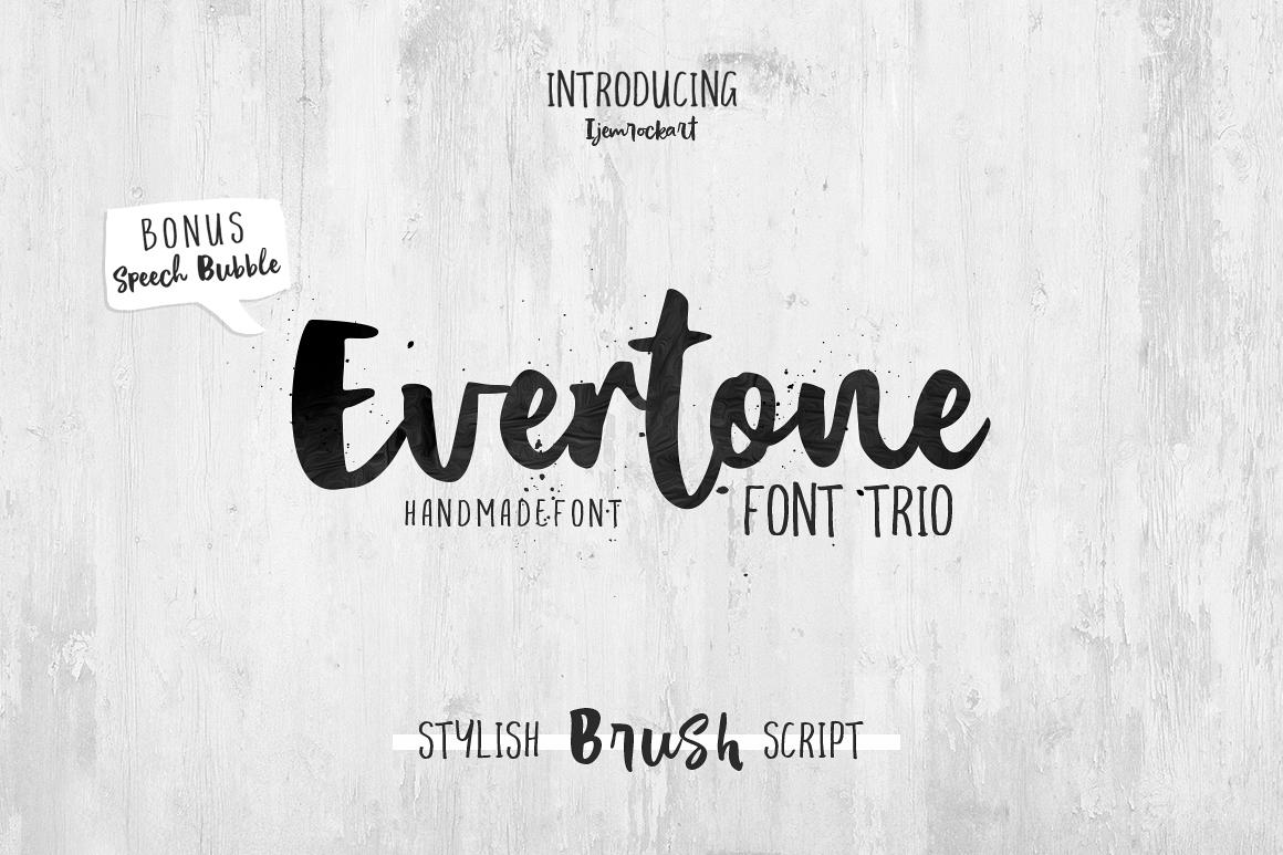 Evertone Font Trio example image 1