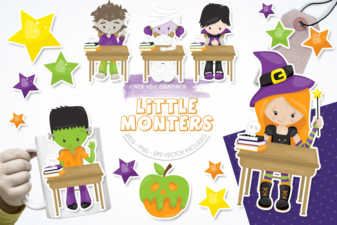 Little Monster graphic and illustrations example image 1