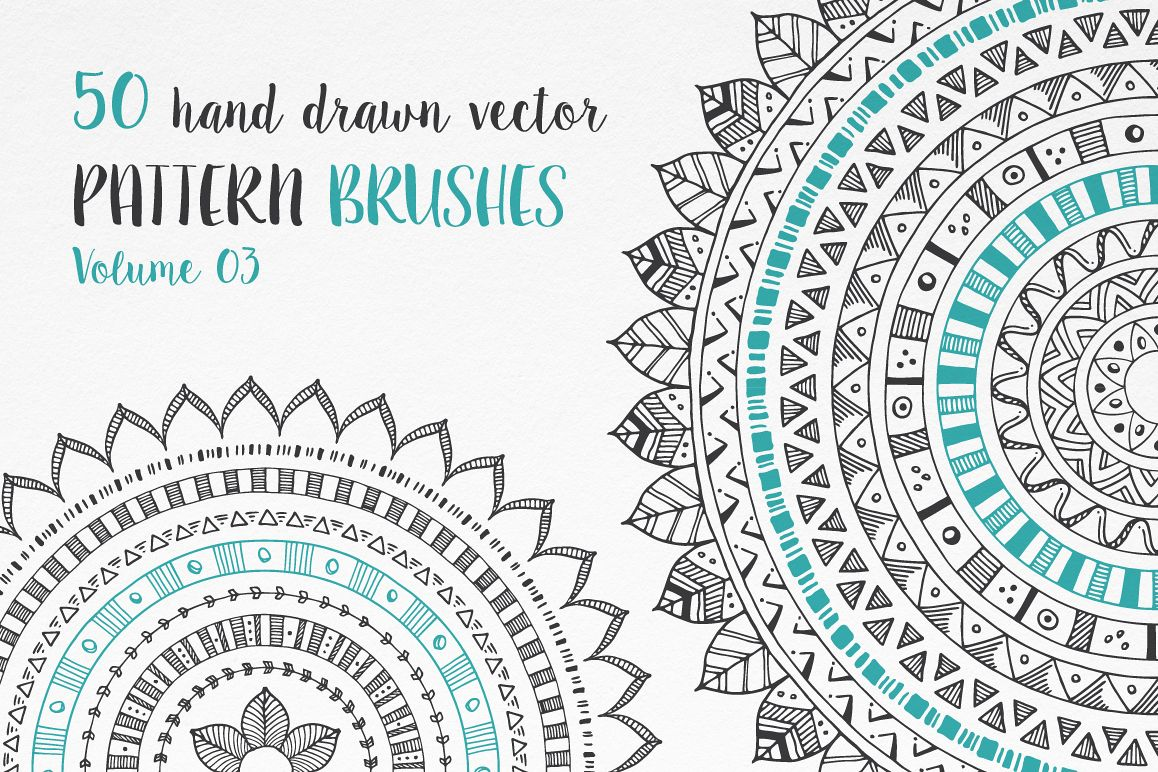 Hand Drawn Pattern Brushes Vol. 03 example image 1