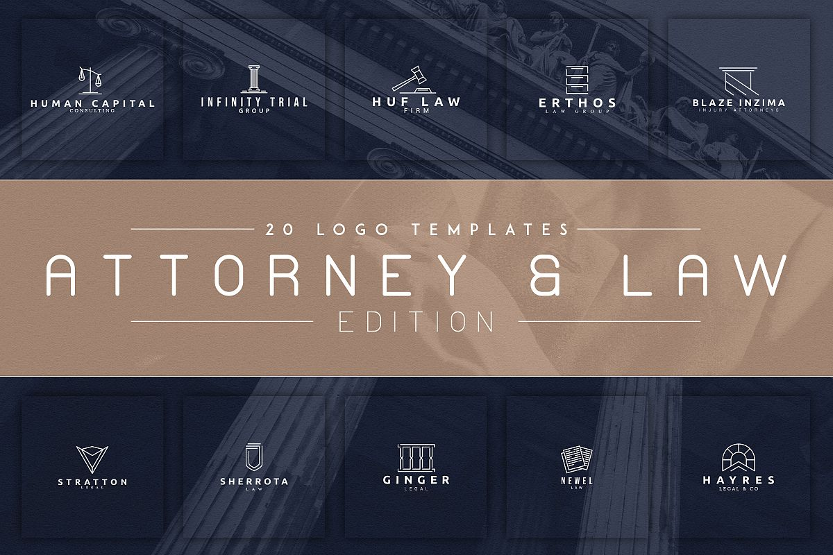 20 Logos Attorney & Law example image 1