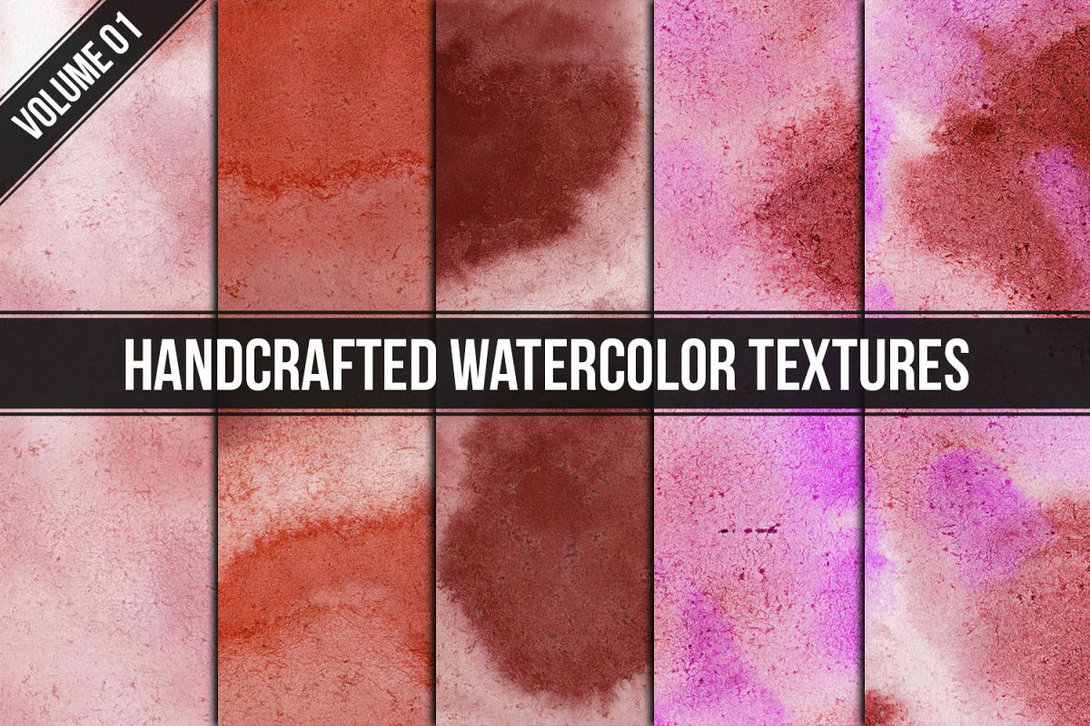 Handcrafted Watercolor Textures Vol. 01 example image 1