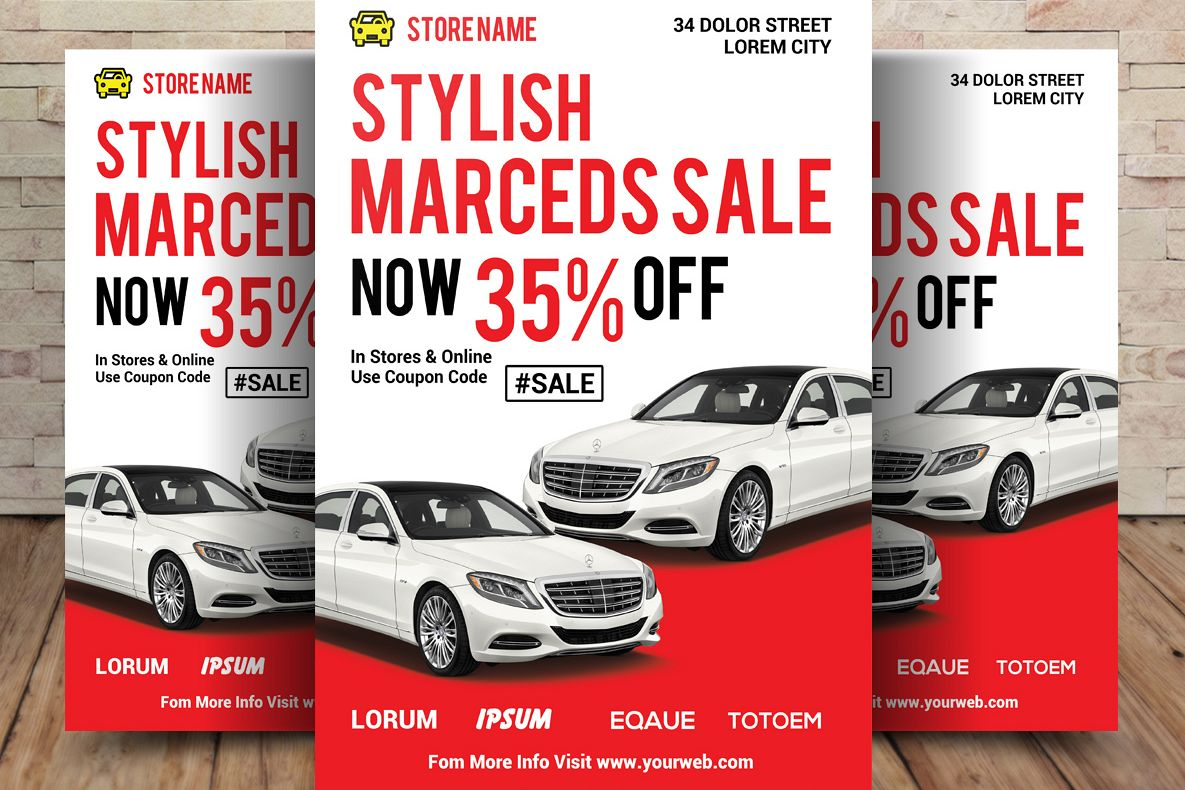 Car Sale Flyer by sanaimran | Design Bundles