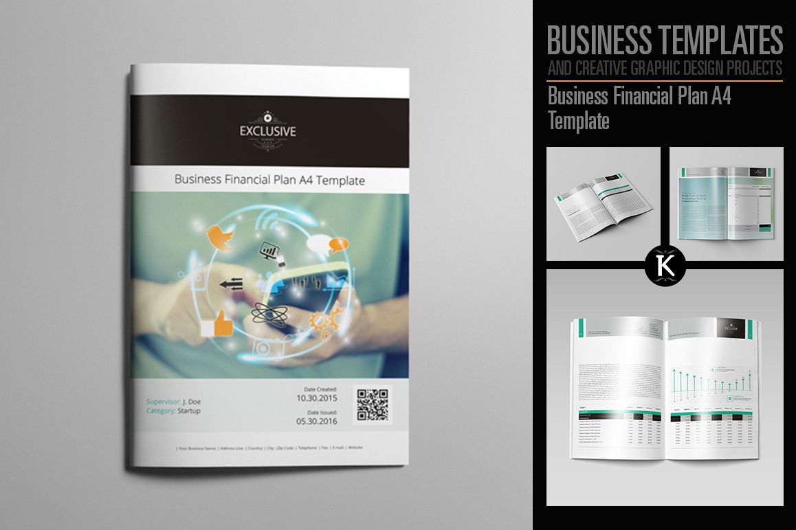 Business Financial Plan A4 Template example image 1