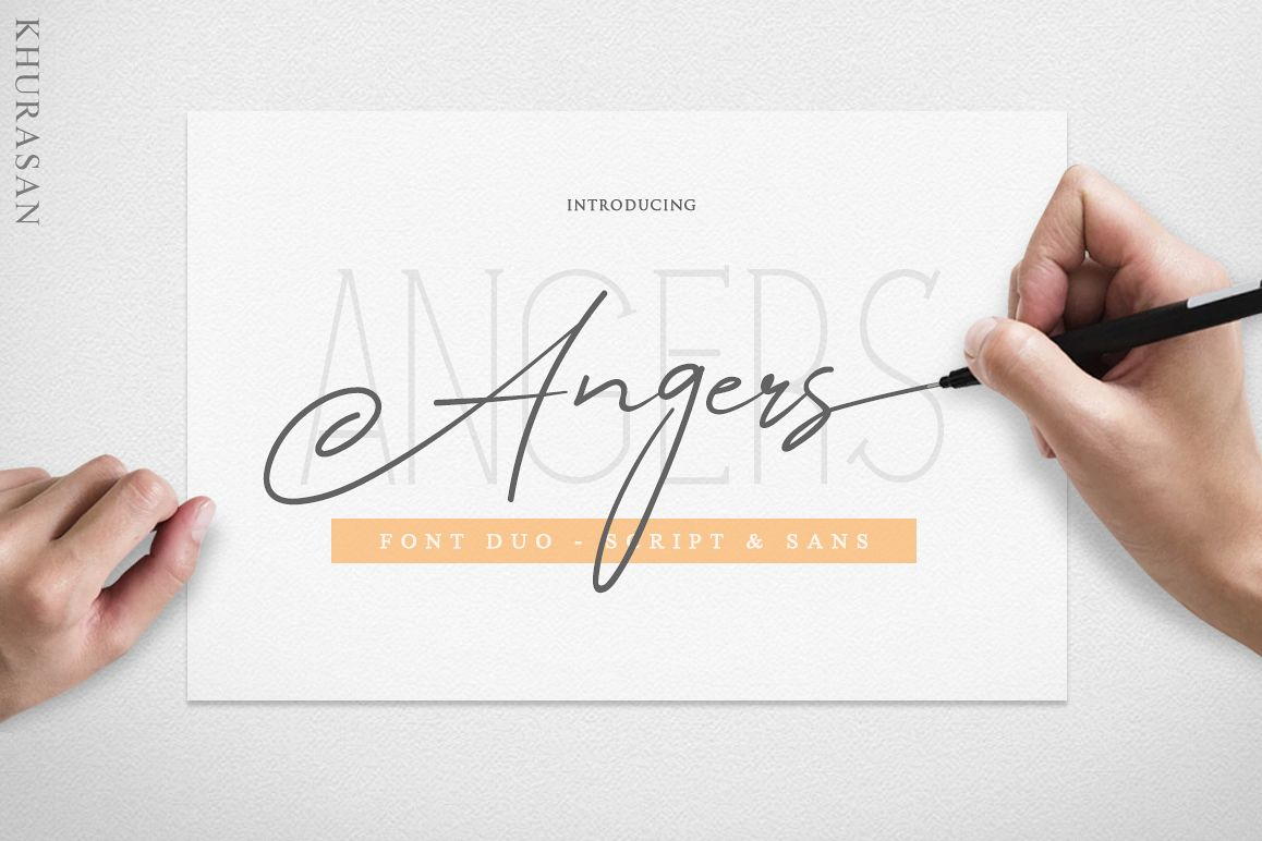 Angers Script Font Duo example image 1