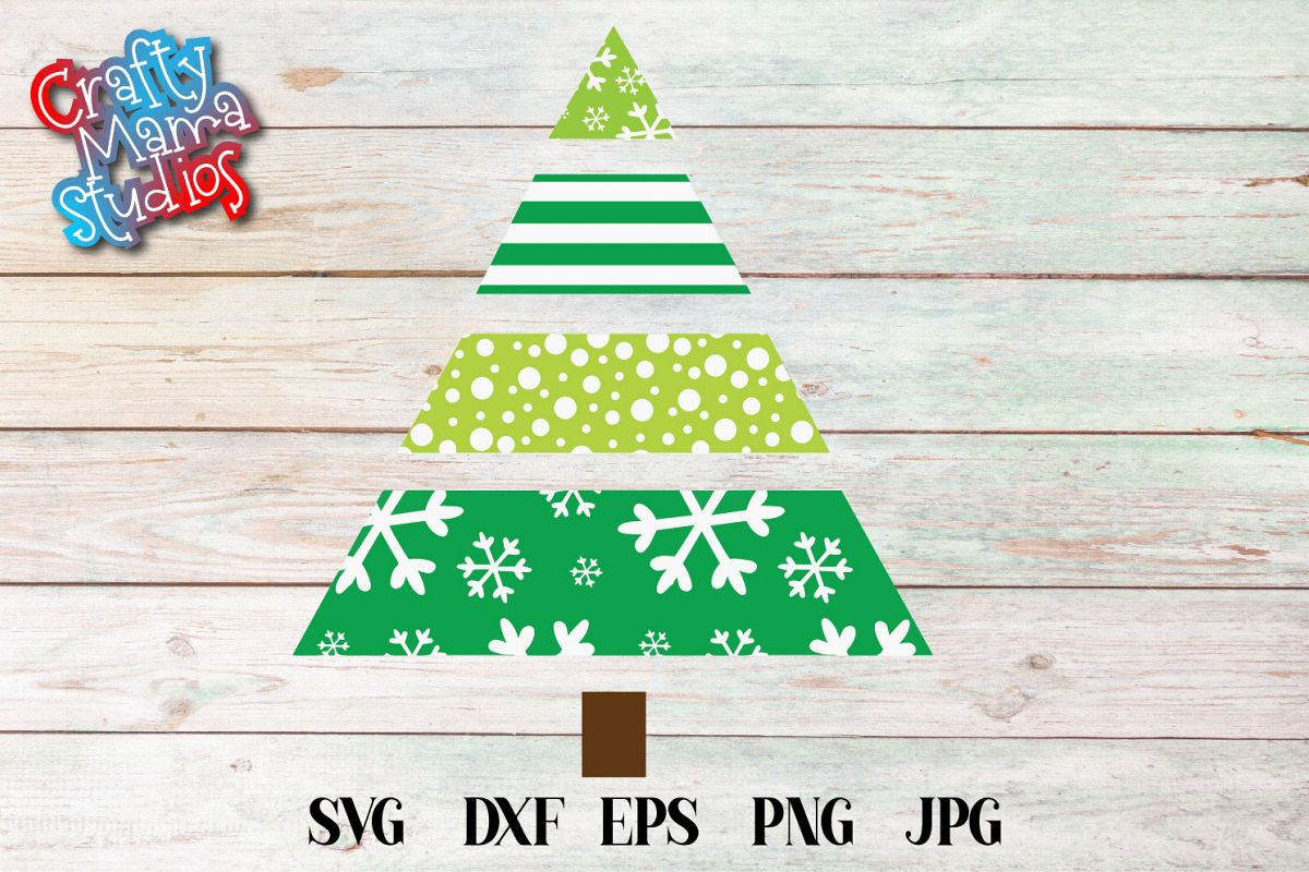 Snowflake Christmas Tree SVG, Sublimation, Snowflake SVG example image 1