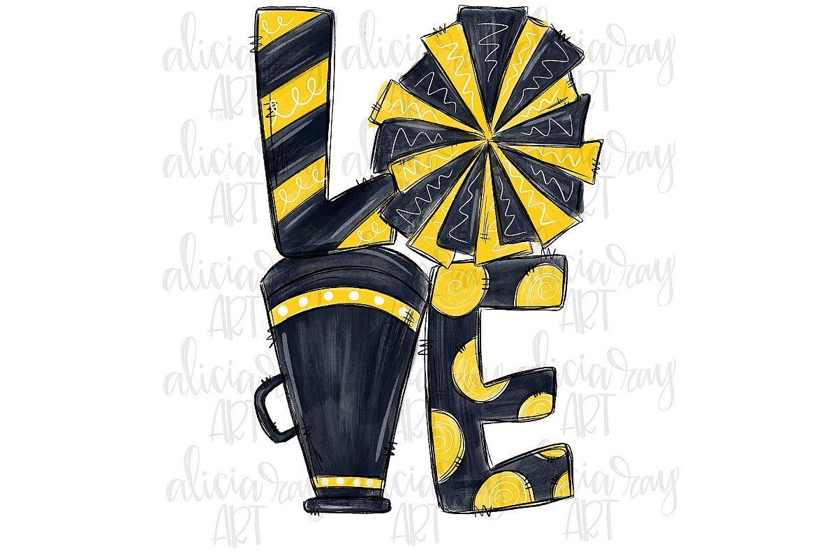 Cheer Love Yellow and Gold example image 1
