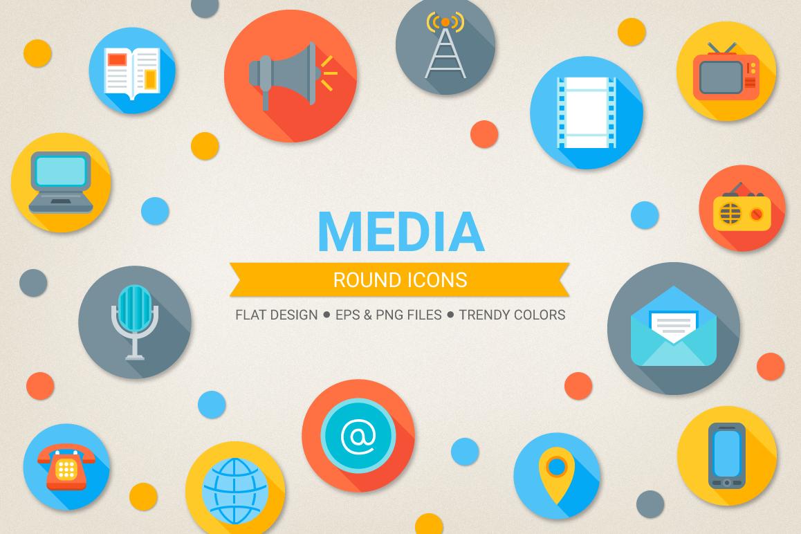 Round Media Icons example image 1