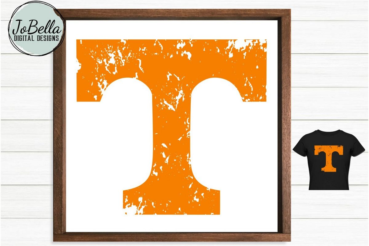 Vols Orange Distressed Tennessee T SVG and Printable example image 1