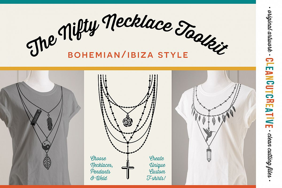 The Nifty NECKLACE TOOLKIT -  DIY Layered Necklace T-shirt Design in Boho/Ibiza Style example image 1