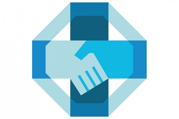 Handshake Forming Cross Octagon Retro example image 1