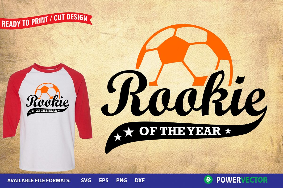 Rookie of the Year, Rookie soccer svg dxf eps cut files example image 1