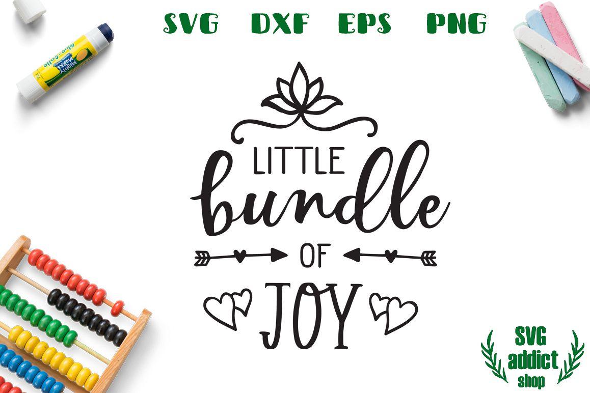 Little Bundle of Joy SVG Cut File example image 1