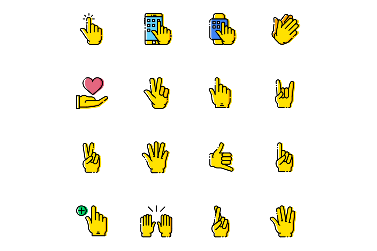 Gestures Icons example image 1
