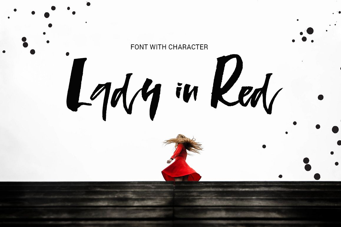 Lady in Red - script font example image 1